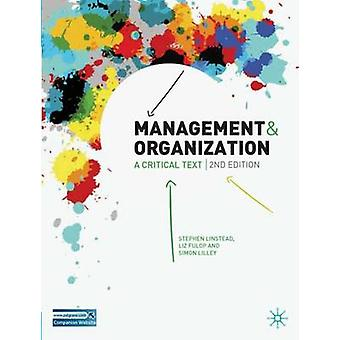 Management and Organization by Stephen Linstead
