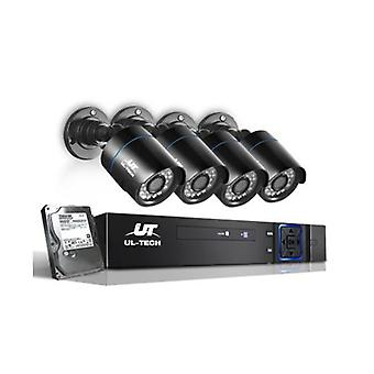 Cctv 2Tb 8Ch Dvr 1080P 4 Camera Sets