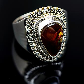 Mexicain Fire Agate Ring Taille 6 (925 Sterling Silver) - Bijoux Boho Vintage ring986729