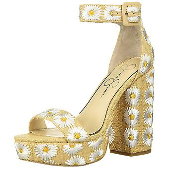 Jessica Simpson Womens Caiya3 Open Toe Ankle Strap Classic Pumps