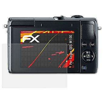 atFoliX Glass Protector compatible with Canon EOS M100 Glass Protective Film 9H Hybrid-Glass