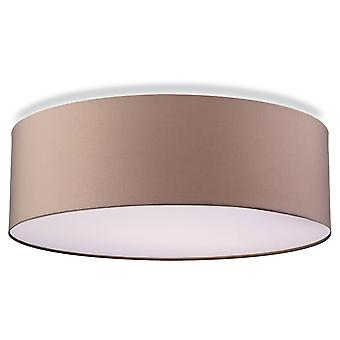 Firstlight Cyclic Modern Taupe Drum Shade Suspended Ceiling Pendant Light Fitting