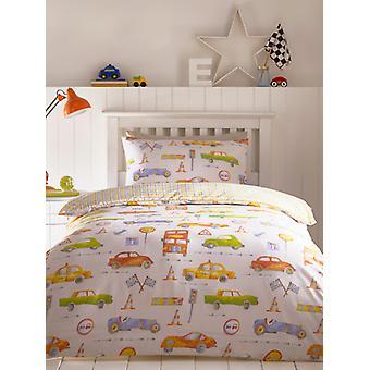 Autos Einzelne Bettbezug und Kissenbezug Set