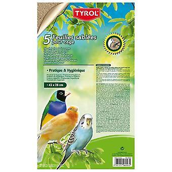 Tyrol 5 Folhas de Areia L (Aves , Leitos e substratos)