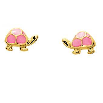 Ohrringe Rosen Schildkröten laqu es gold 750/1000 gelb (18K)