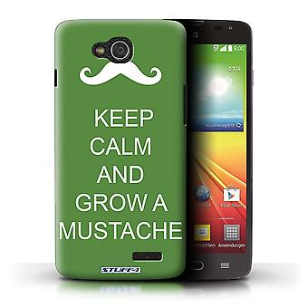 STUFF4 Case/Cover for LG L90 Dual/D410/Grow a Mustache/Green/Keep Calm