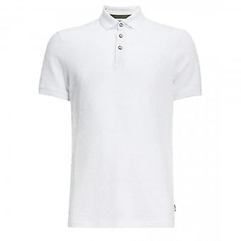 Ted Baker Infuse SS Textured Polo Shirt White