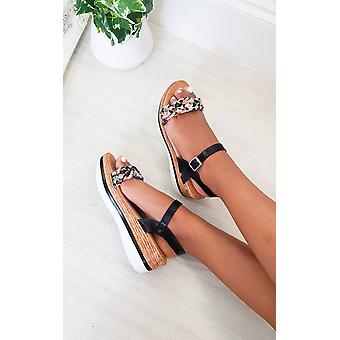 IKRUSH Womens Jorgie Ribbon Strap Sandals