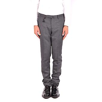 Incotex Ezbc093051re Men's Grey Wool Pants