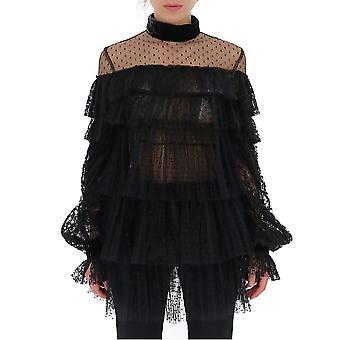 Wandering Wgw19407assample Women's Black Polyester Blouse