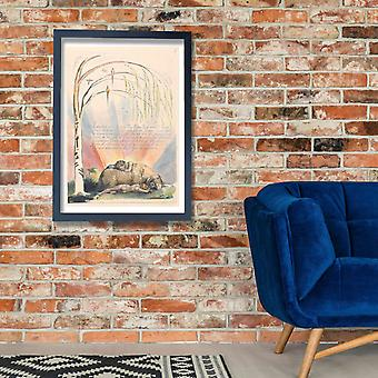 William Blake - America A Prophecy Plate 9 Poster Print Giclee