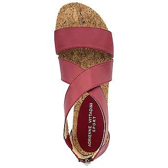 Adrienne Vittadini naisten Cary nahka avoin toe rento Slide sandaalit