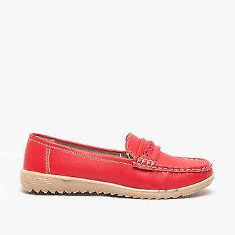 Amblers Thames dames loafers rood
