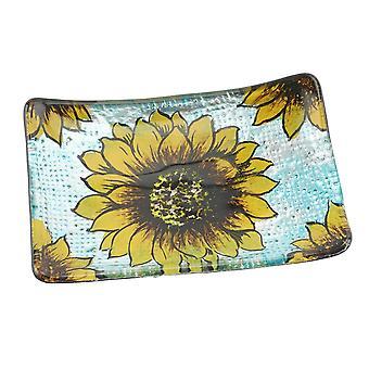 CGB Giftware Sunflower Rectangular Dish