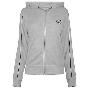 Lonsdale Womens Long Line Zip Hoodie Top Jumper Blouse Sweatshirt Ladies