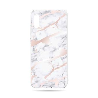 Runko Huawei Y6 2019 Pehmeä vaaleanpunainen marmoriefekti