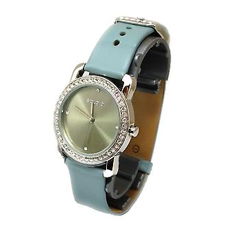 Solo Genuine Leather Strap Blue Dial Ladies Watch G359