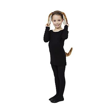 Dog Set (Ears + Tail) (DARK BROWN)