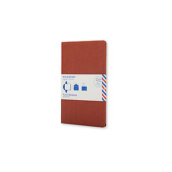 Moleskine postal notebook large terracotta red