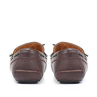 Jones Bootmaker Mens Preston Tie-Detail Leather Driving Shoes