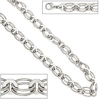 Kvinders halskæde halskæde 925 sterling sølv rhodium-belagt 45 cm sølv kæde karabinhage