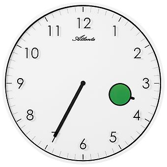 أتلانتا الجدار 4431/0 ساعة الكوارتز التناظرية يعلم مسطحة مع تغيير اللون