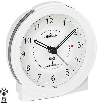 Atlanta hvide med lys snooze roligt omkring 1855/0 alarm clock Radiovækkeur