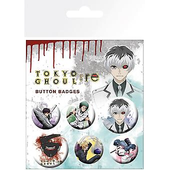 Tokyo Ghoul Mix Pin Button Badges Set