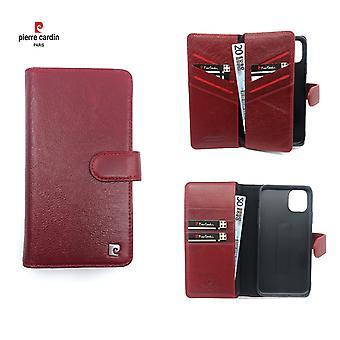 Pierre Cardin Leren Brieftasche Fall Hoesje iPhone 11 Pro Max - Rood