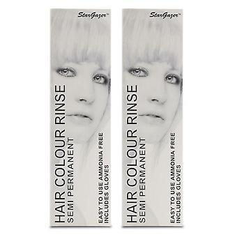Stargazer Semi-Permanent Hair Colour Dye WHITE (2-Pack)