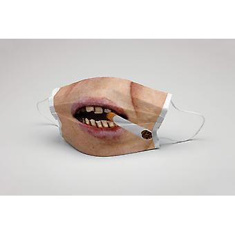 Suu naamio tupakoitsija savukkeen pestävä naamio suojaava naamio tupakoitsija naamio ökotex