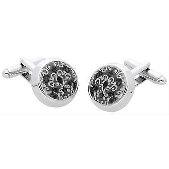 Duncan Walton Arad Cufflinks - Silver/Grey