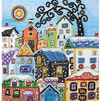 Abris Art Bead Embroidery Kit With Thread - Bright Houses