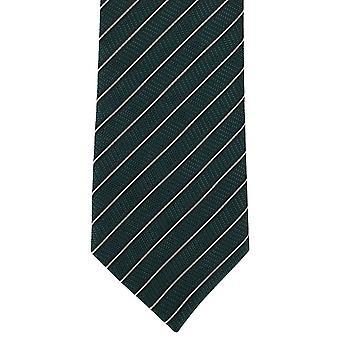 Michelsons of London Fine Stripe Polyester Tie - Green