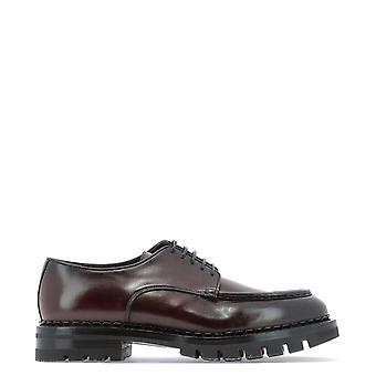 Santoni Mcco16298ml6hvvdq49 Men's Brown Leather Lace-up Shoes