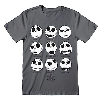 Disney The Nightmare Before Christmas The Many Faces Of Jack Women-apos;s Boyfriend Fit T-Shirt (fr) Marchandises officielles
