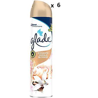 6 x Glade Aerosol Air Freshener 300ml - Romantic Vanilla Blossom
