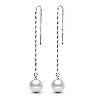 Nagie kolczyki z perłowej nici dla kobiety