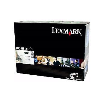 Lexmark X651H11P Black Prebate Toner Yield 25000 Pages