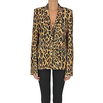 Paco Rabanne Ezgl246008 Femmes-apos;s Blazer en laine léopard