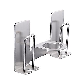 YANGFAN Stainless Steel No-Drilling Double Toothbrush Holder