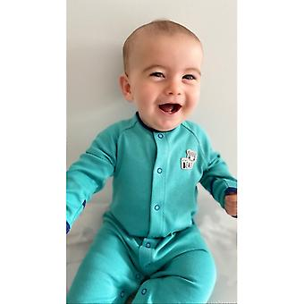 The Essential One Unisex Baby Sleepsuit Turquoise