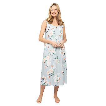 Cyberjammies Nora Rose Emelia 1424 Donne's grigio floreale stampa lunga nottedress