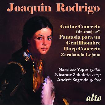 Yepes*Narciso / Zabaleta*Nicanor / Segovia*Andres - Rodrigo: Concierto para guitarra ('De Aranjuez') [CD] Importación de Estados Unidos