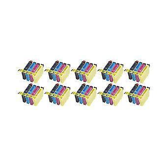 RudyTwos החלפת 10x עבור Epson 18XL דייזי Set יחידת דיו שחור ציאן מגנטה & תואם צהוב עם ביטוי Home XP-102, XP-202, XP-205, XP-212, xp-215, xp-225, xp-30, xp-33, xp-302, xp-305, XP-