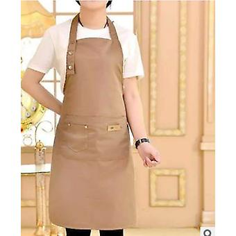 Pure Color Cooking Kitchen Apron For Woman Men Chef  Waiter Cafe Shop BBQ Hairdresser Aprons Bibs Kitchen