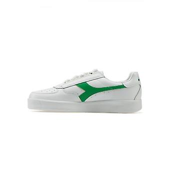 Diadora B.Elite White & Green Leather Sneaker