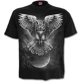Spiral - wings of wisdom - men's short sleeve t-shirt . black