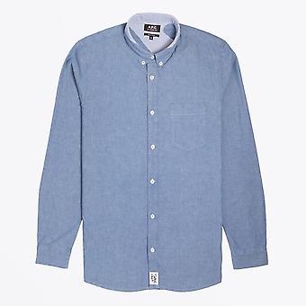 A.P.C.  - Angus Stitch Detail Shirt - Indigo