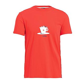 ABK Men's Coffee Short Sleeve T-Shirt Red